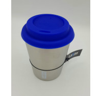 Coffee-to-Go Edelstahlbecher 0,33L- ROT